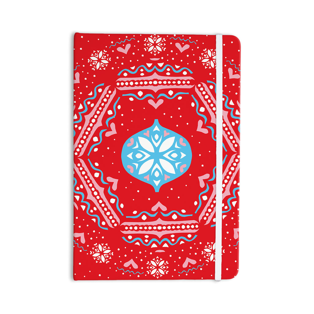 "Miranda Mol ""Snow Joy Red"" Blue Everything Notebook - KESS InHouse  - 1"