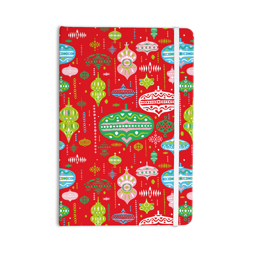"Miranda Mol ""Ornate Red"" Ornaments Everything Notebook - KESS InHouse  - 1"