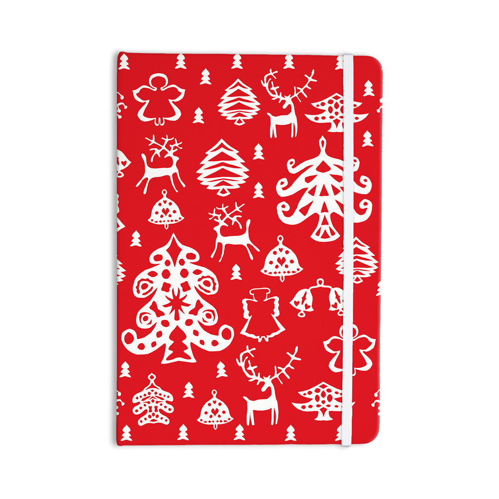 "Miranda Mol ""Warm Winter Red"" White Everything Notebook - KESS InHouse  - 1"