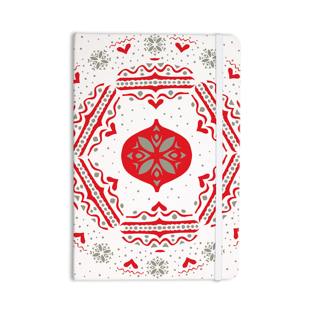 "Miranda Mol ""Snowjoy White"" Red Everything Notebook - KESS InHouse  - 1"