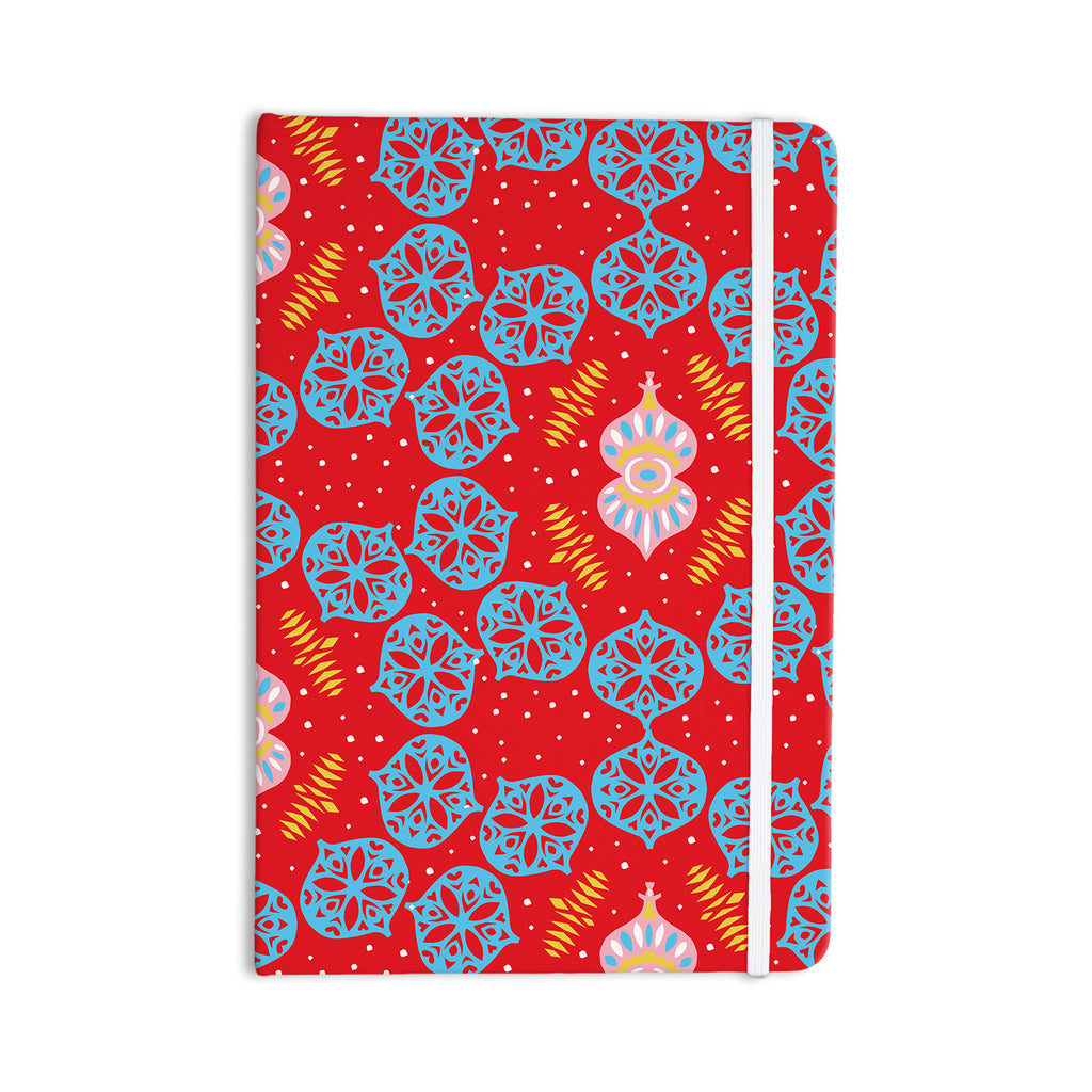 "Miranda Mol ""Frosted Red"" Blue Everything Notebook - KESS InHouse  - 1"
