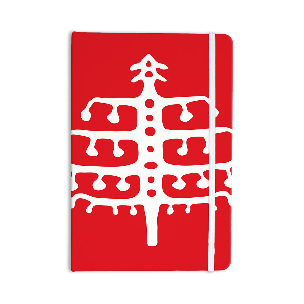 "Miranda Mol ""Deco Tree Red"" Holiday Everything Notebook - KESS InHouse  - 1"