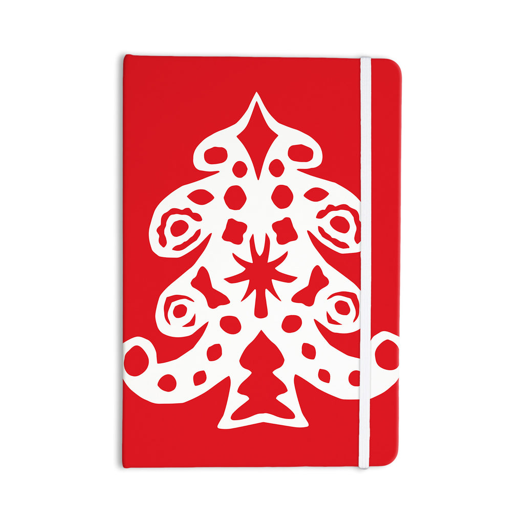 "Miranda Mol ""Noble Pine Red"" Holiday Everything Notebook - KESS InHouse  - 1"