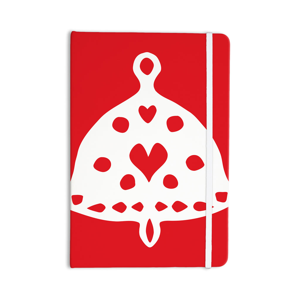 "Miranda Mol ""Jingle Bell Red"" Holiday Everything Notebook - KESS InHouse  - 1"