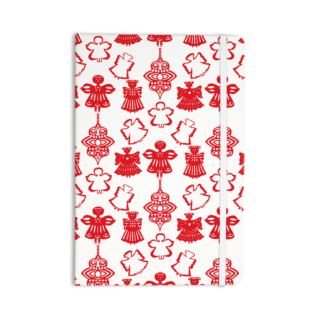"Miranda Mol ""Angels Singing White"" Red Holiday Everything Notebook - KESS InHouse  - 1"