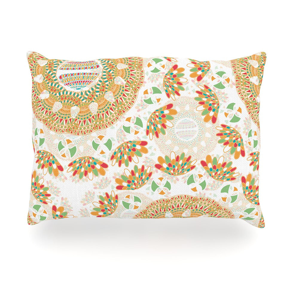 "Miranda Mol ""Bohemian Bright"" Geometric Multicolor Oblong Pillow - KESS InHouse"