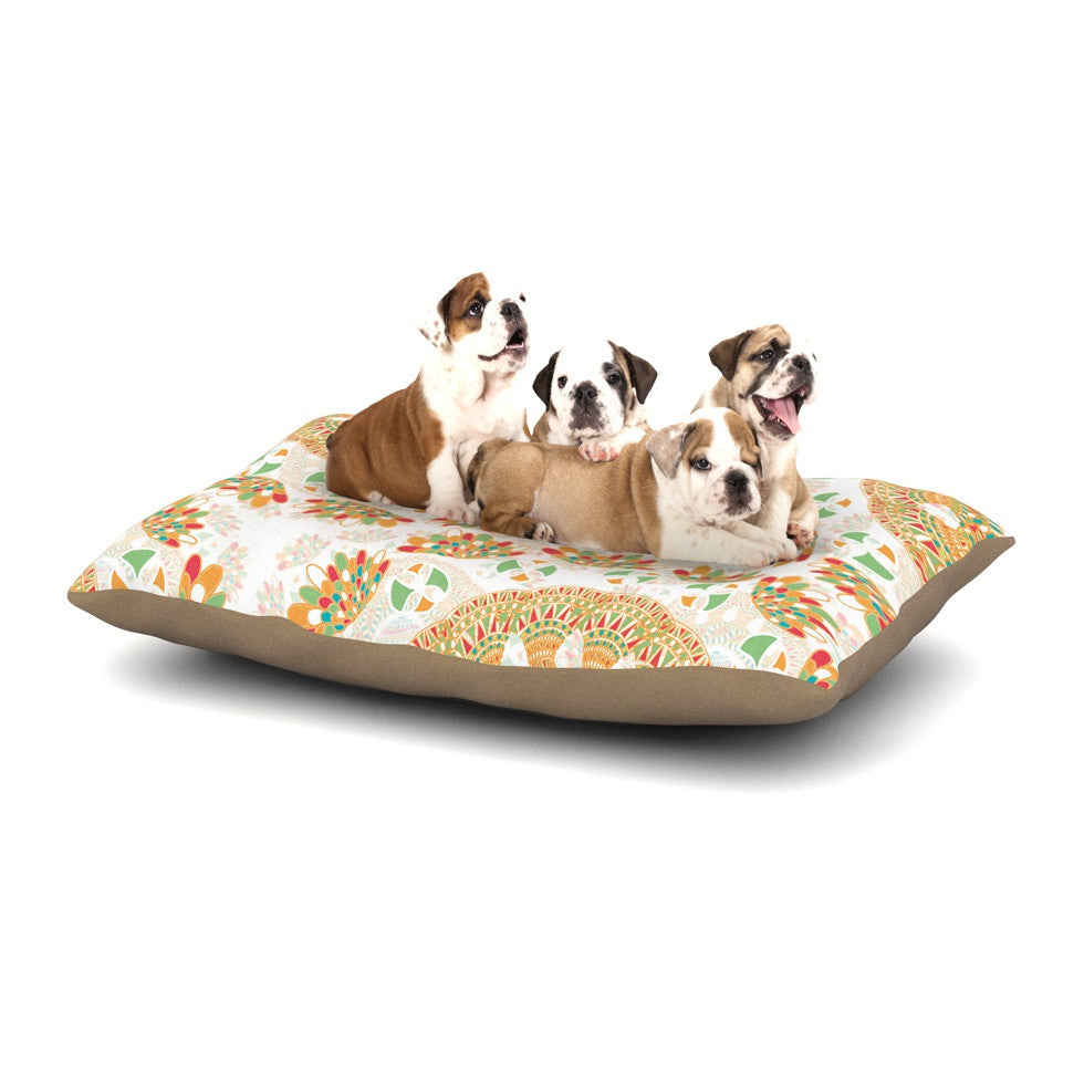 "Miranda Mol ""Bohemian Bright"" Geometric Multicolor Dog Bed - KESS InHouse  - 1"