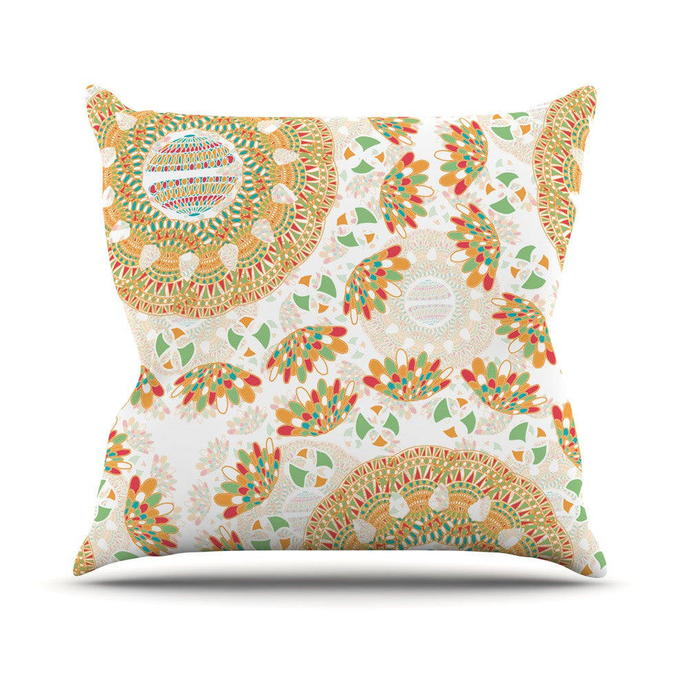 "Miranda Mol ""Bohemian Bright"" Geometric Multicolor Throw Pillow - KESS InHouse  - 1"