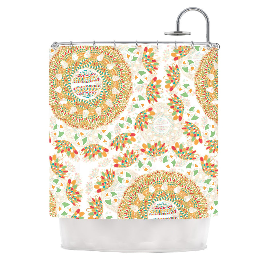 "Miranda Mol ""Bohemian Bright"" Geometric Multicolor Shower Curtain - KESS InHouse"