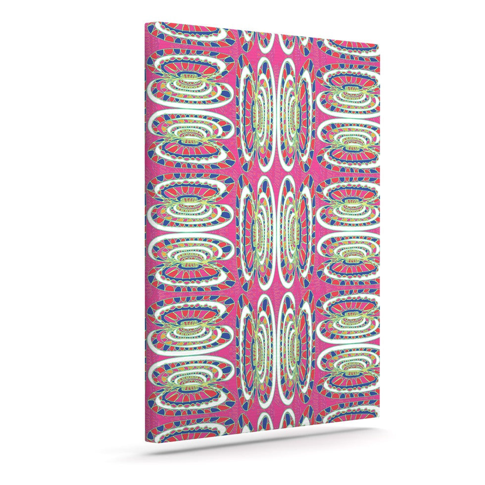 "Miranda Mol ""Bohemian Wild"" Pink Abstract Canvas Art - KESS InHouse  - 1"
