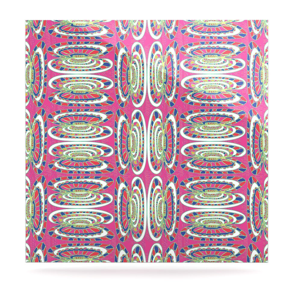 "Miranda Mol ""Bohemian Wild"" Pink Abstract Luxe Square Panel - KESS InHouse  - 1"