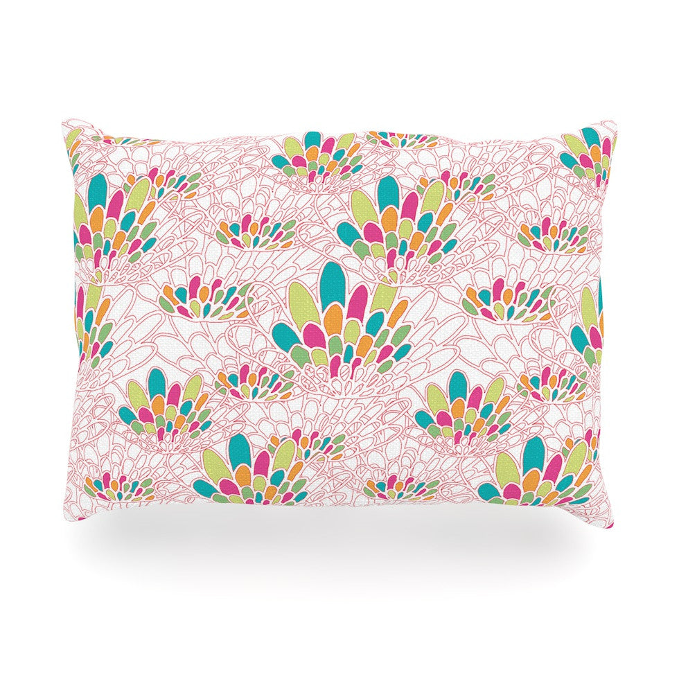 "Miranda Mol ""Blown Away"" Pink Multicolor Oblong Pillow - KESS InHouse"