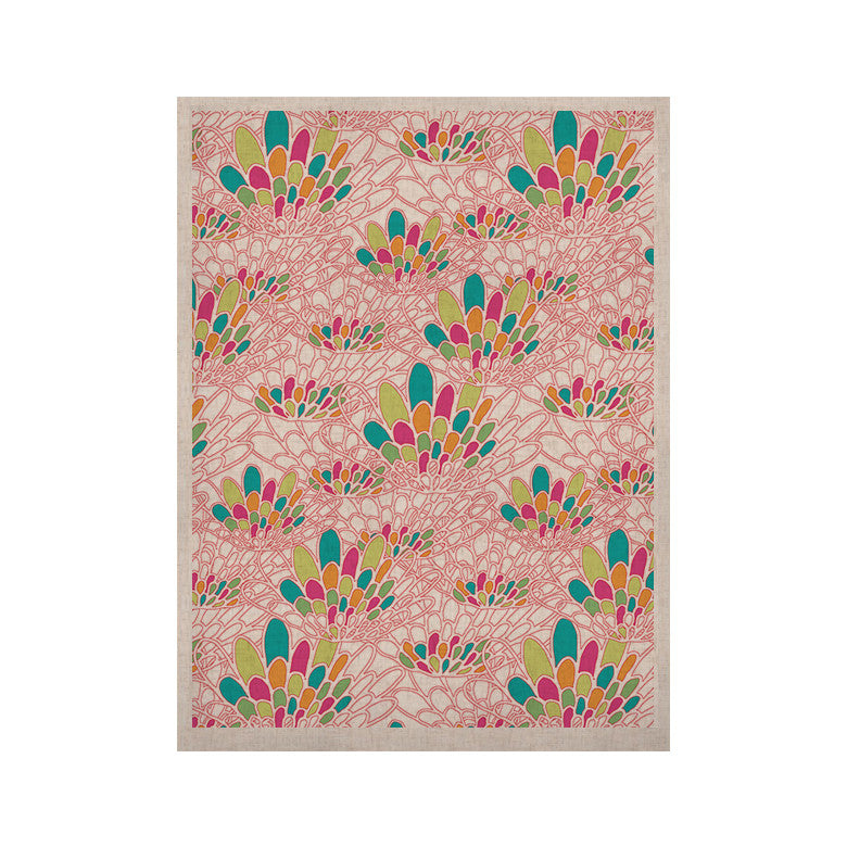 "Miranda Mol ""Blown Away"" Pink Multicolor KESS Naturals Canvas (Frame not Included) - KESS InHouse  - 1"