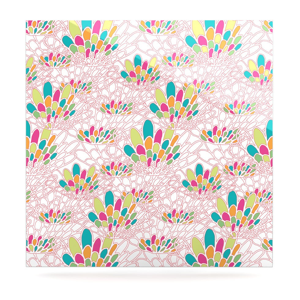 "Miranda Mol ""Blown Away"" Pink Multicolor Luxe Square Panel - KESS InHouse  - 1"