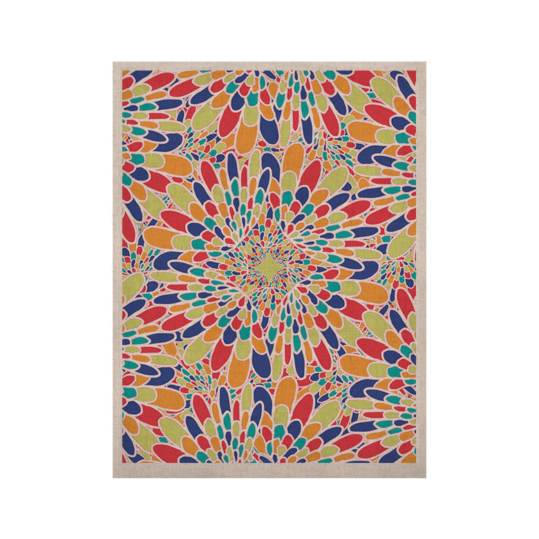 "Miranda Mol ""Flourishing Blue"" Multicolor Geometric KESS Naturals Canvas (Frame not Included) - KESS InHouse  - 1"