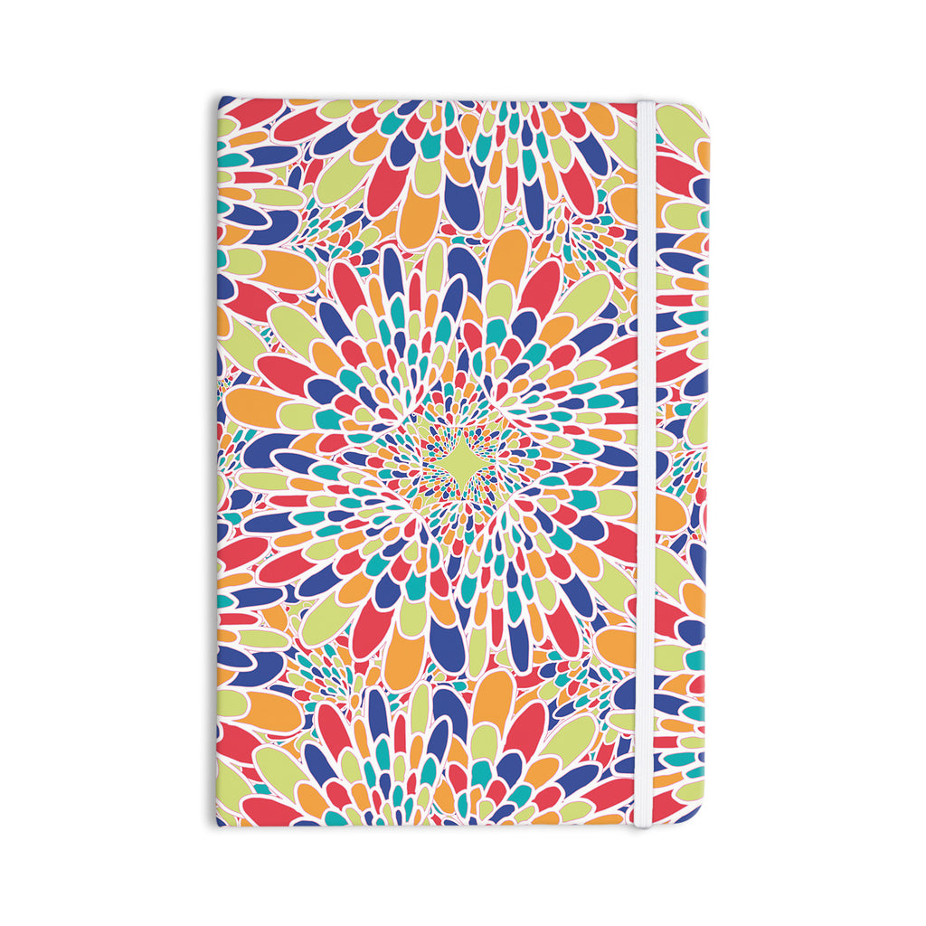 "Miranda Mol ""Flourishing Blue"" Multicolor Geometric Everything Notebook - KESS InHouse  - 1"