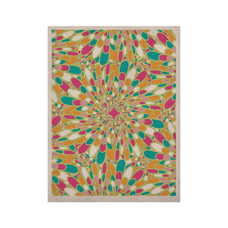 "Miranda Mol ""Flourishing Green"" Green Multicolor KESS Naturals Canvas (Frame not Included) - KESS InHouse  - 1"