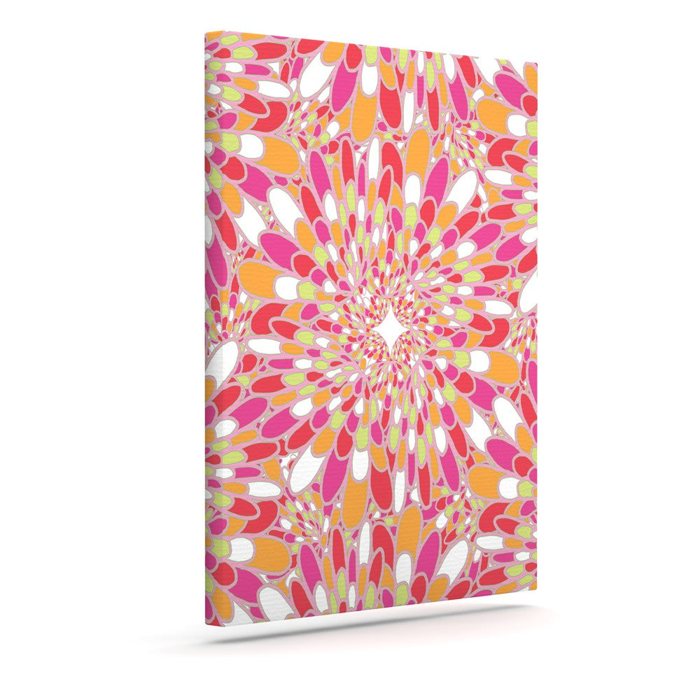 "Miranda Mol ""Flourishing Pink"" Pink Orange Canvas Art - KESS InHouse  - 1"
