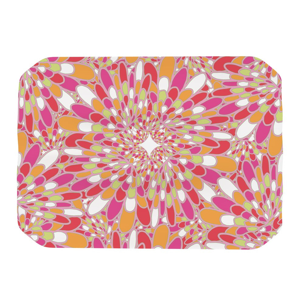 "Miranda Mol ""Flourishing Pink"" Pink Orange Place Mat - KESS InHouse"