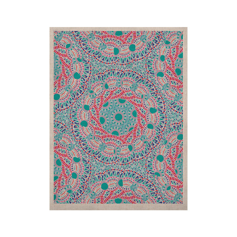 "Miranda Mol ""Prismatic White"" Blue Pink Abstract KESS Naturals Canvas (Frame not Included) - KESS InHouse  - 1"