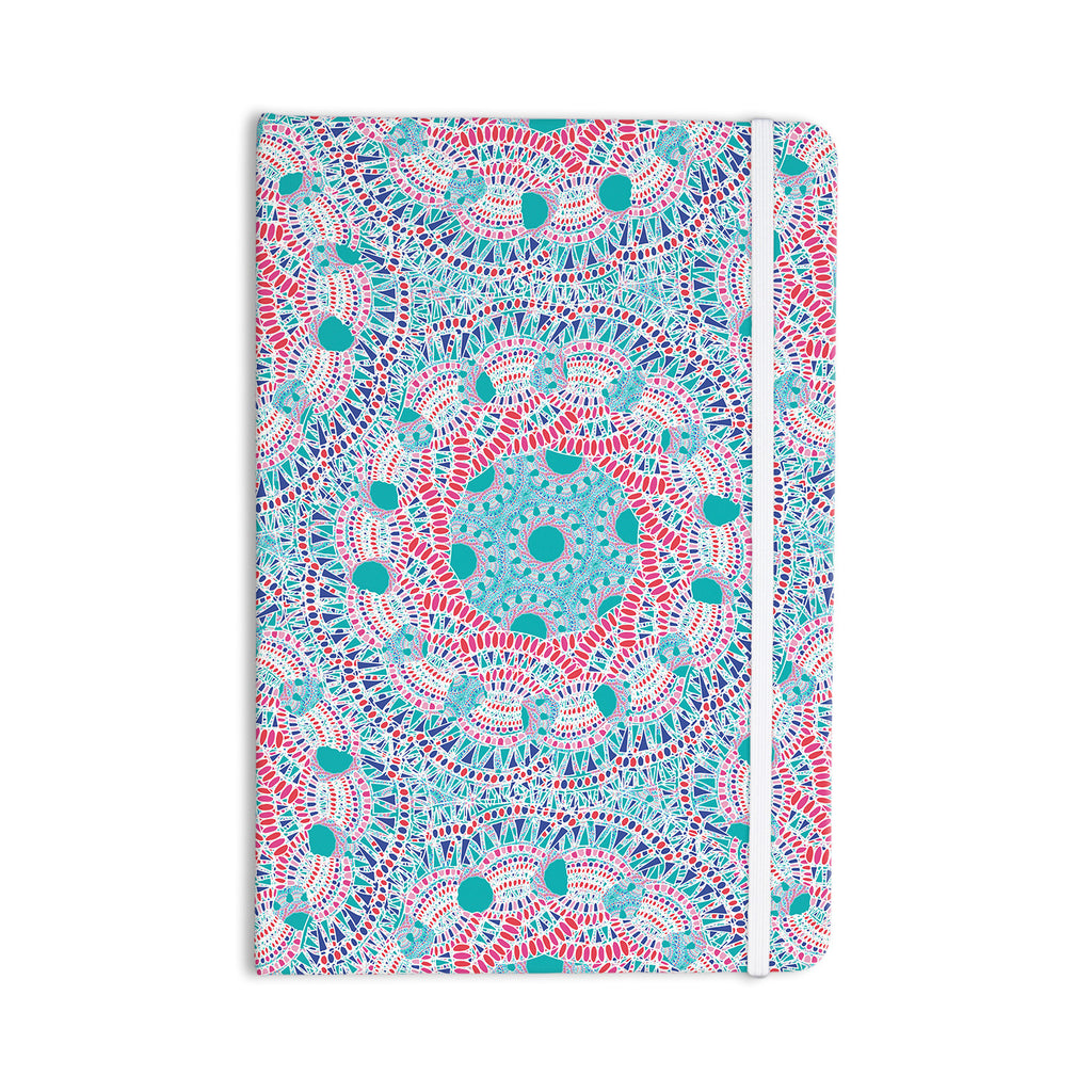"Miranda Mol ""Prismatic White"" Blue Pink Abstract Everything Notebook - KESS InHouse  - 1"