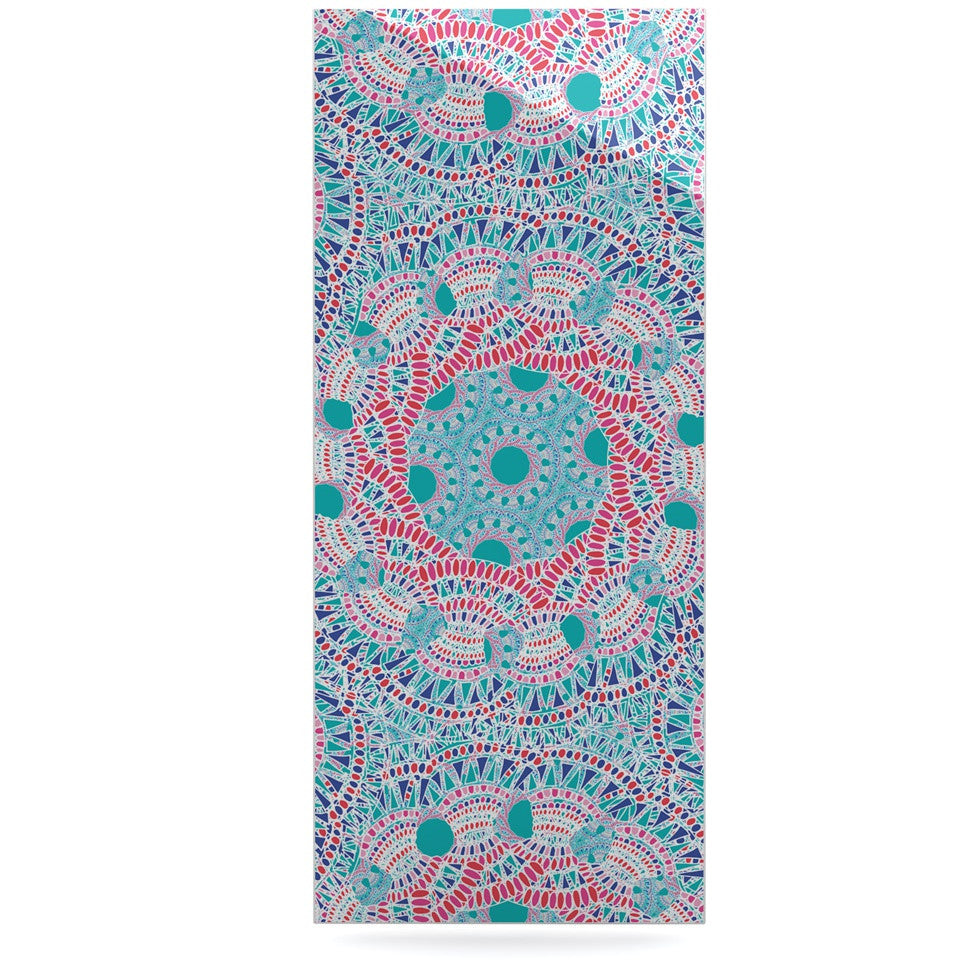 "Miranda Mol ""Prismatic White"" Blue Pink Abstract Luxe Rectangle Panel - KESS InHouse  - 1"