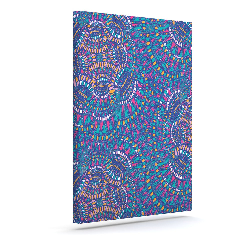 "Miranda Mol ""Kaleidoscopic Blue"" Blue Geometric Canvas Art - KESS InHouse  - 1"
