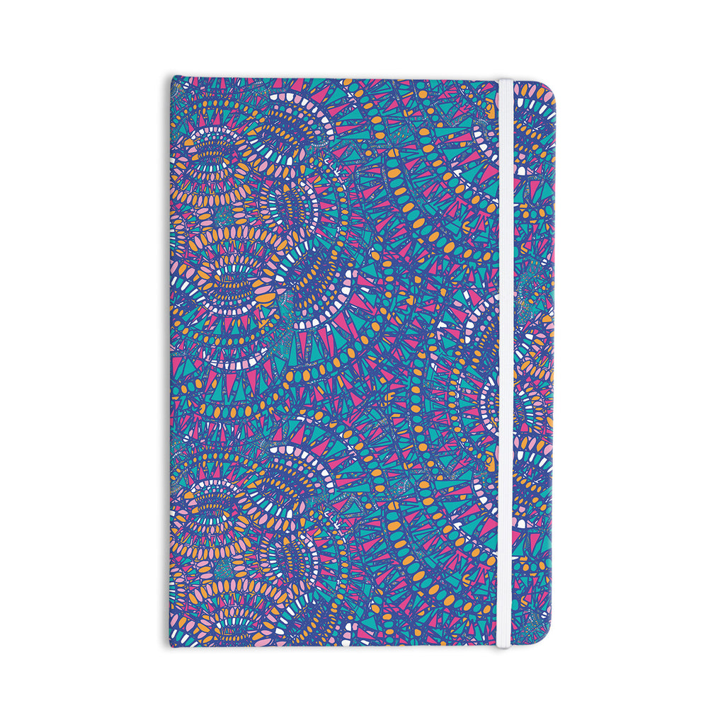 "Miranda Mol ""Kaleidoscopic Blue"" Blue Geometric Everything Notebook - KESS InHouse  - 1"