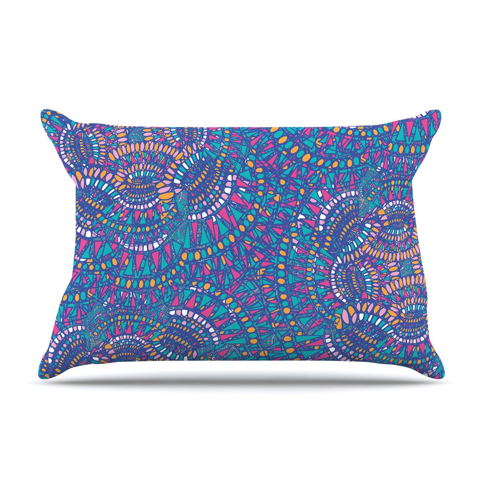 "Miranda Mol ""Kaleidoscopic Blue"" Blue Geometric Pillow Sham - KESS InHouse"