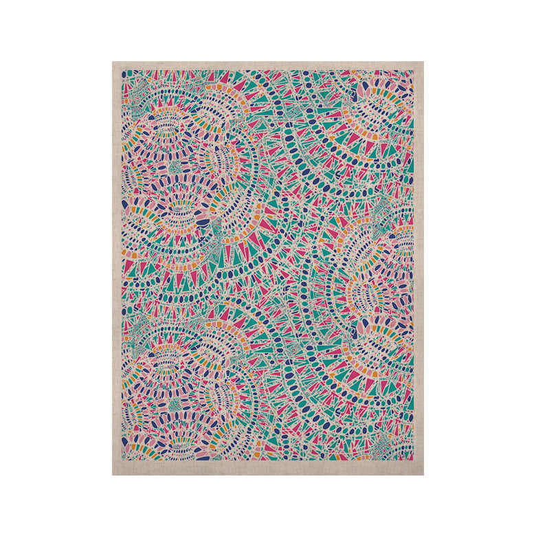 "Miranda Mol ""Kaleidoscopic White"" Aqua Abstract KESS Naturals Canvas (Frame not Included) - KESS InHouse  - 1"