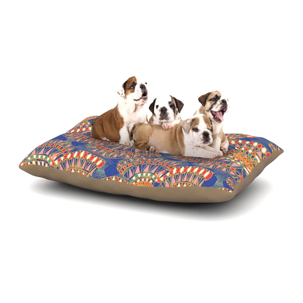 "Miranda Mol ""Energy"" Orange Blue Abstract Dog Bed - KESS InHouse  - 1"