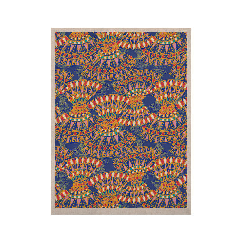 "Miranda Mol ""Energy"" Orange Blue Abstract KESS Naturals Canvas (Frame not Included) - KESS InHouse  - 1"