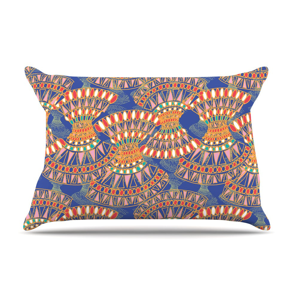 "Miranda Mol ""Energy"" Orange Blue Abstract Pillow Sham - KESS InHouse"