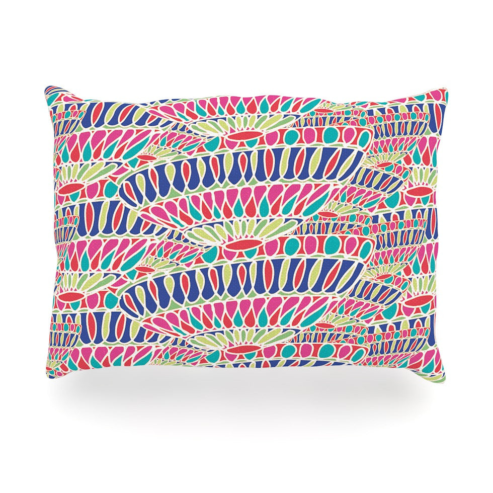"Miranda Mol ""Abundance"" Magenta Multicolor Oblong Pillow - KESS InHouse"