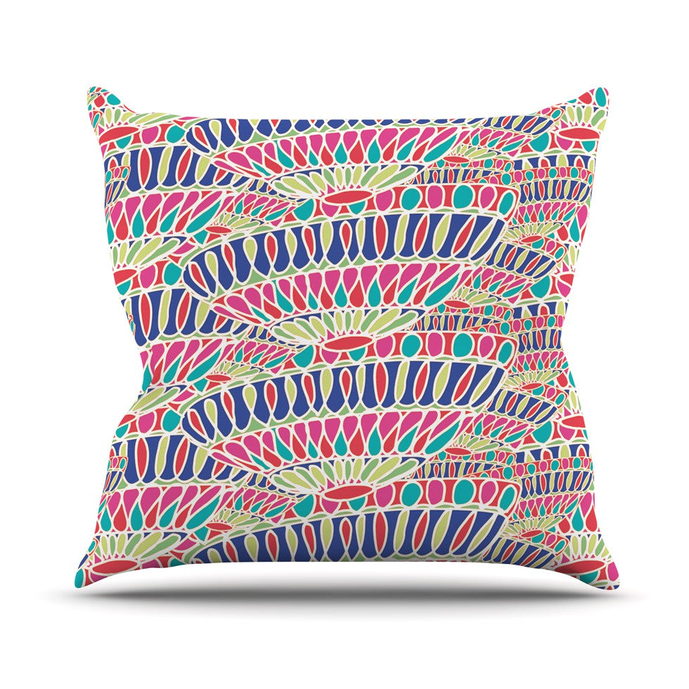 "Miranda Mol ""Abundance"" Magenta Multicolor Throw Pillow - KESS InHouse  - 1"