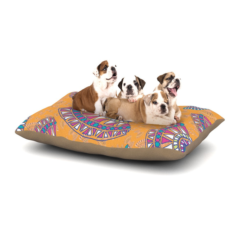 "Miranda Mol ""Tribal Fun Orange"" Abstract Tangerine Dog Bed - KESS InHouse  - 1"