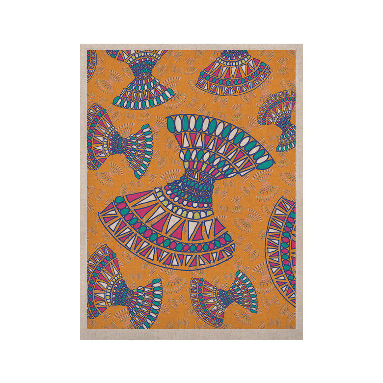 "Miranda Mol ""Tribal Fun Orange"" Abstract Tangerine KESS Naturals Canvas (Frame not Included) - KESS InHouse  - 1"
