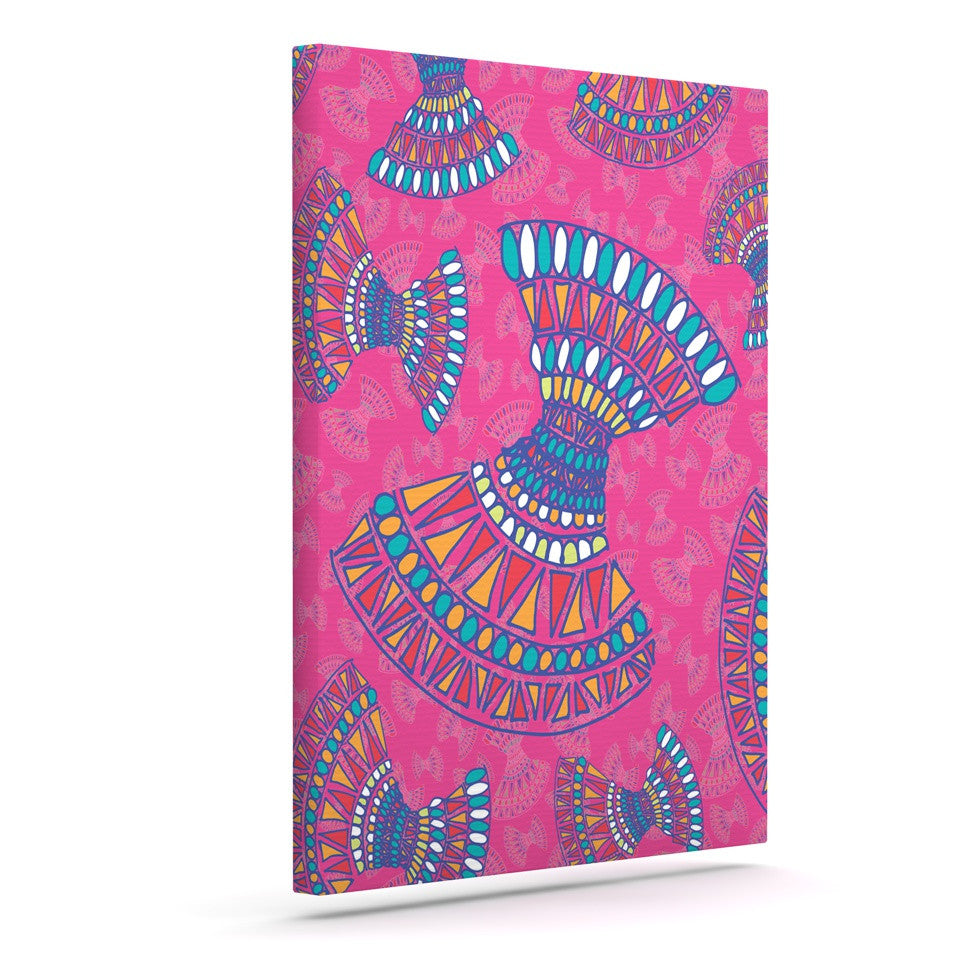 "Miranda Mol ""Tribal Fun Pink"" Magenta Abstract Canvas Art - KESS InHouse  - 1"
