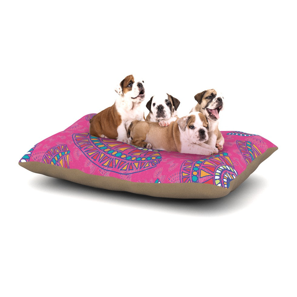 "Miranda Mol ""Tribal Fun Pink"" Magenta Abstract Dog Bed - KESS InHouse  - 1"