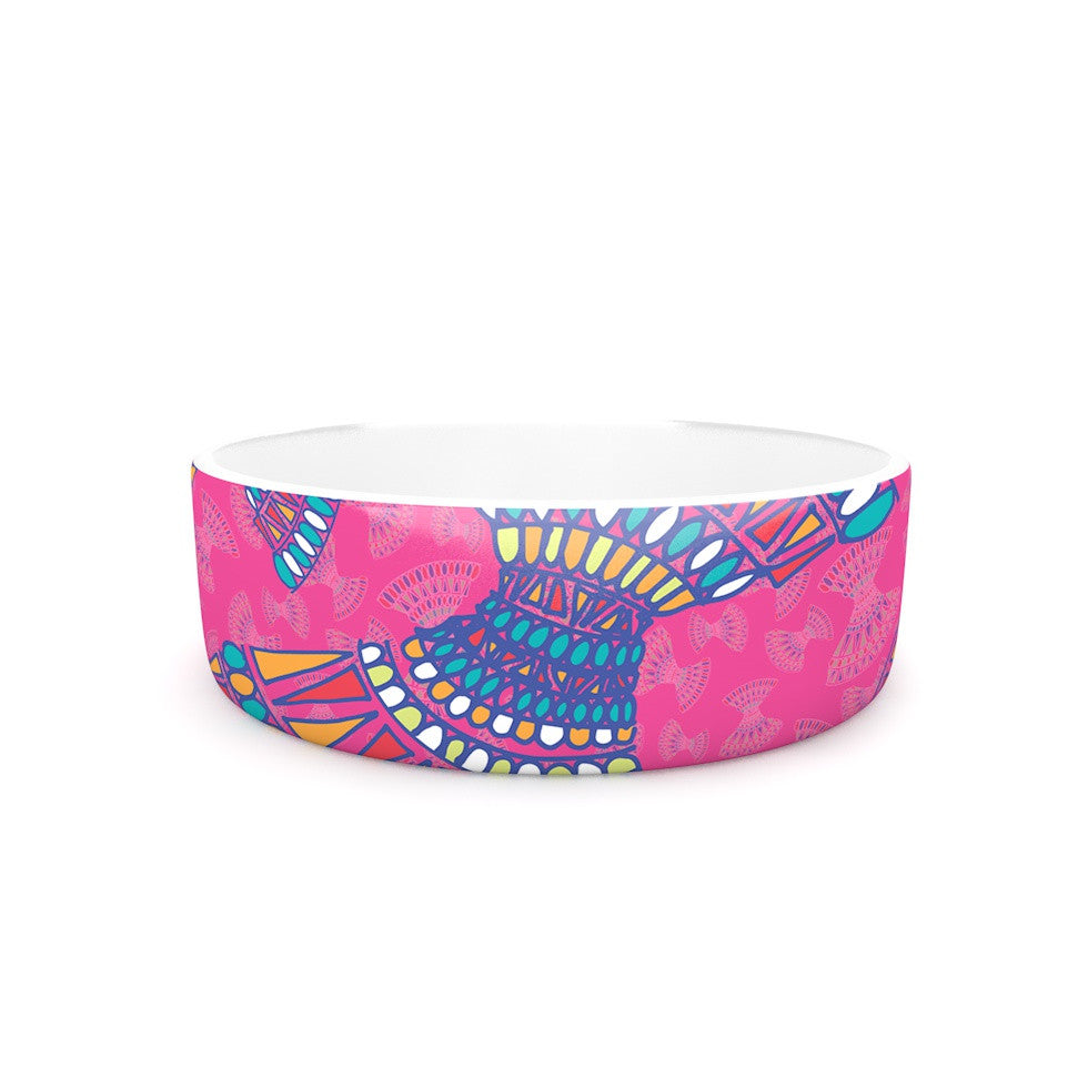 "Miranda Mol ""Tribal Fun Pink"" Magenta Abstract Pet Bowl - KESS InHouse"