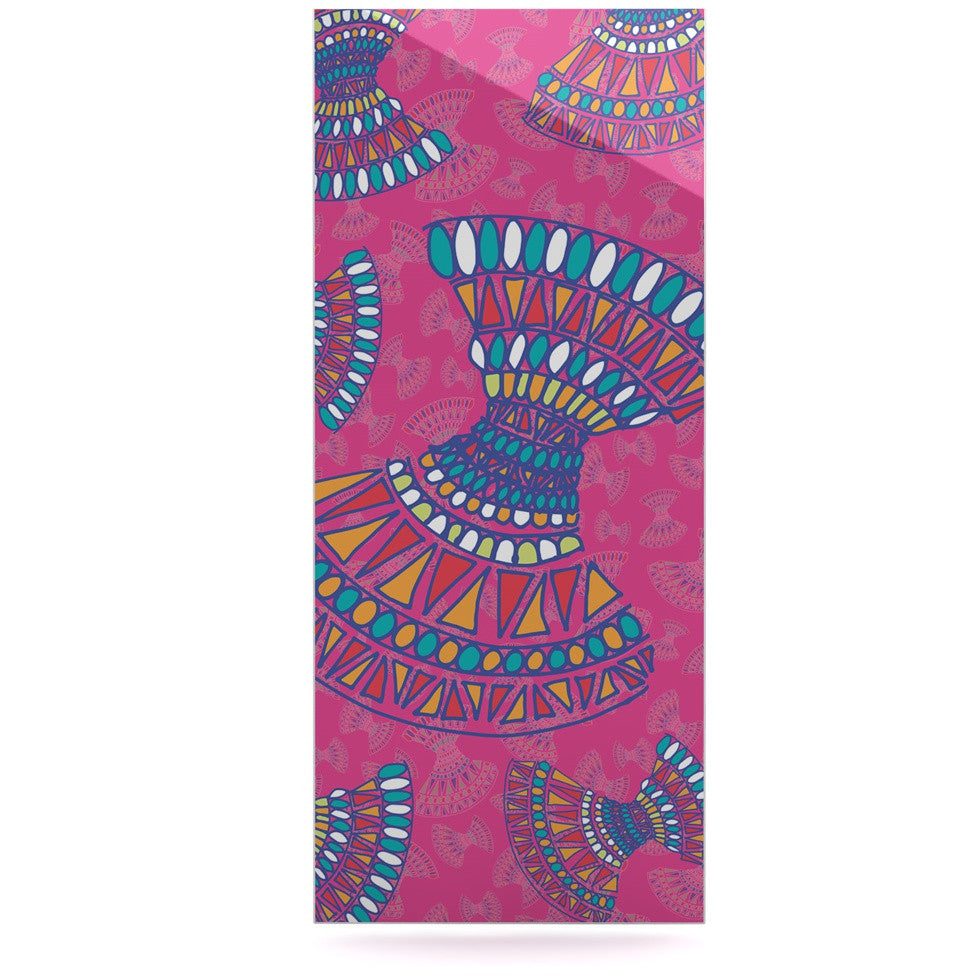 "Miranda Mol ""Tribal Fun Pink"" Magenta Abstract Luxe Rectangle Panel - KESS InHouse  - 1"