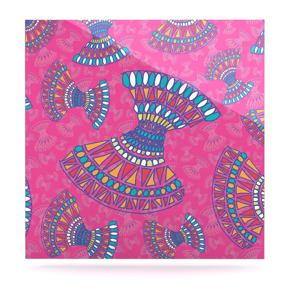 "Miranda Mol ""Tribal Fun Pink"" Magenta Abstract Luxe Square Panel - KESS InHouse  - 1"