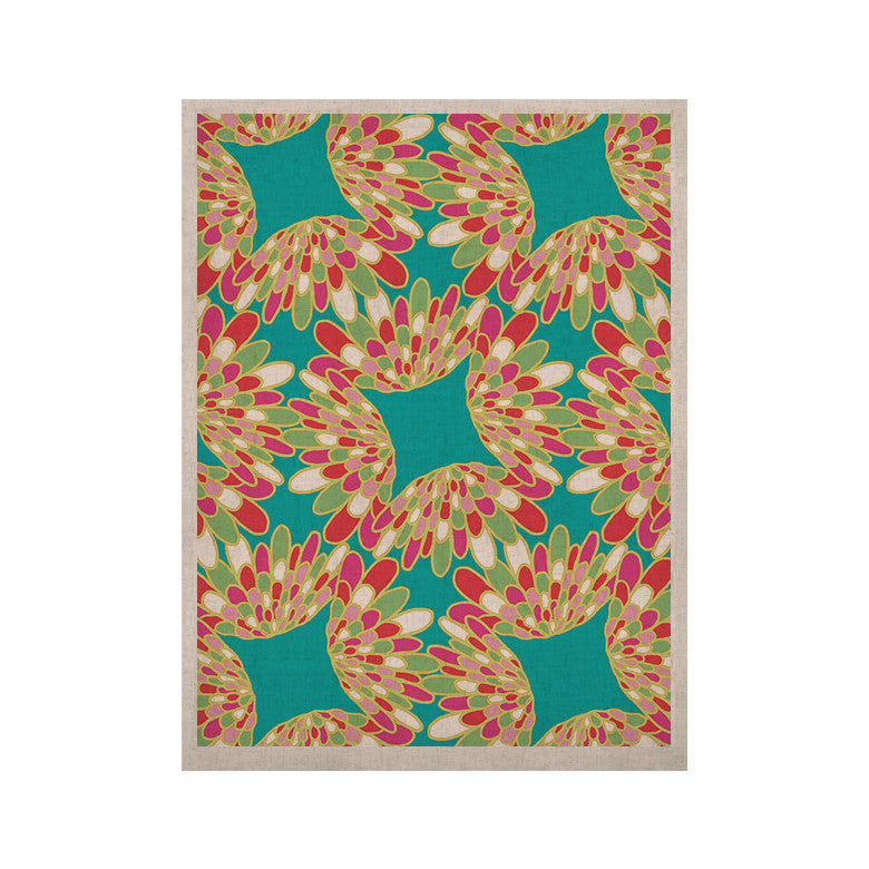 "Miranda Mol ""Wings"" Green Teal KESS Naturals Canvas (Frame not Included) - KESS InHouse  - 1"