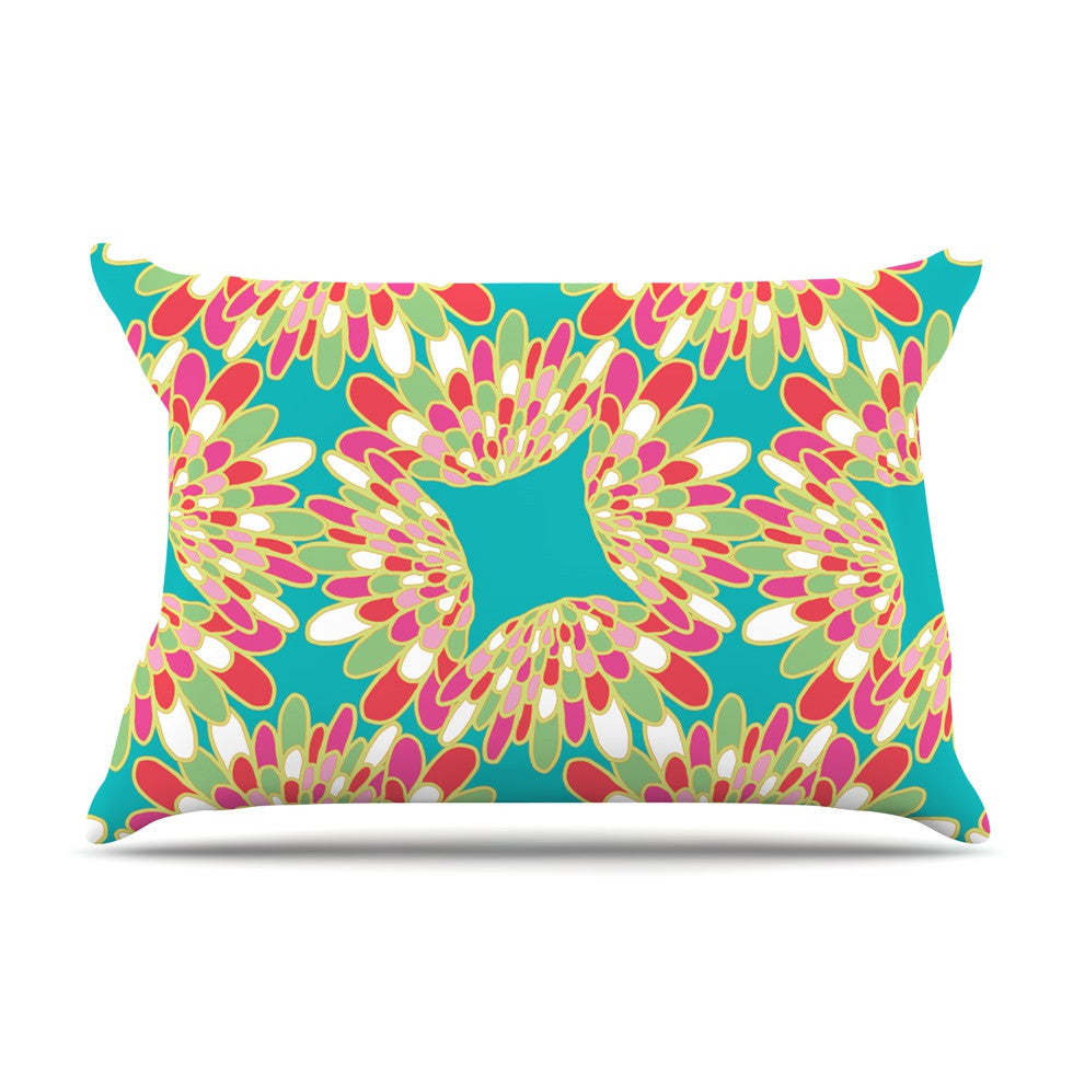 "Miranda Mol ""Wings"" Green Teal Pillow Sham - KESS InHouse"
