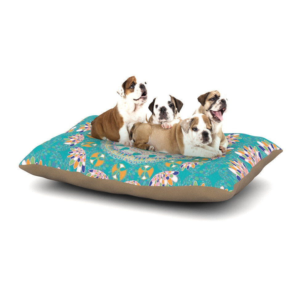 "Miranda Mol ""Luscious"" Blue Pink Dog Bed - KESS InHouse  - 1"