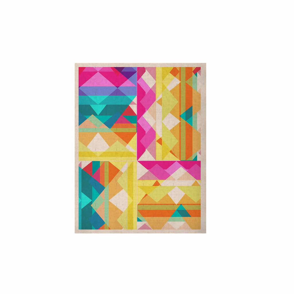 "Miranda Mol ""Triangle Checker"" Pastel Rainbow KESS Naturals Canvas (Frame not Included) - KESS InHouse  - 1"