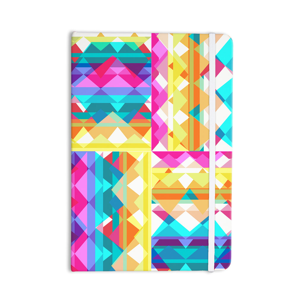 "Miranda Mol ""Triangle Checker"" Pastel Rainbow Everything Notebook - KESS InHouse  - 1"
