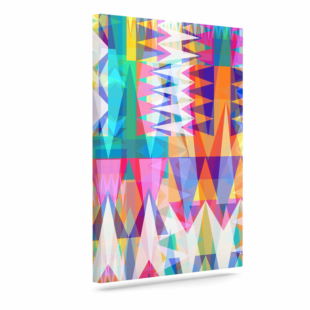 "Miranda Mol ""Triangle Collage"" Pastel Geometric Canvas Art - KESS InHouse  - 1"