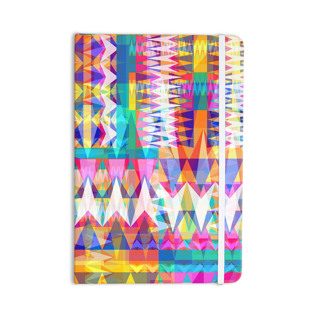 "Miranda Mol ""Triangle Collage"" Pastel Geometric Everything Notebook - KESS InHouse  - 1"