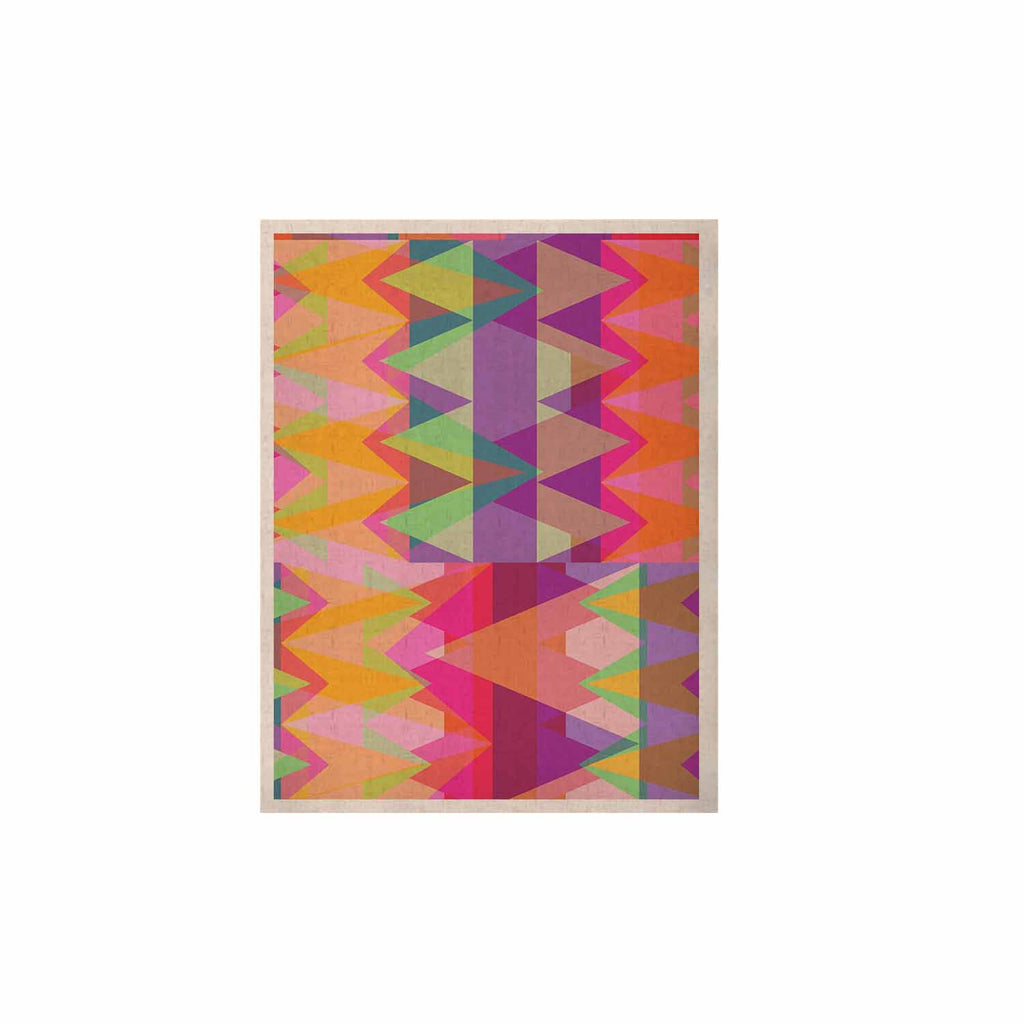 "Miranda Mol ""Triangle Fun"" Pink Multicolor KESS Naturals Canvas (Frame not Included) - KESS InHouse  - 1"